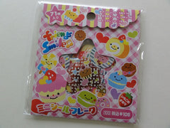 Cute Kawaii Friends Smile Sweet Dessert Stickers Sack - Vintage