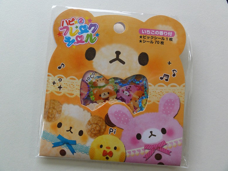 Cute Kawaii Pool Cool Coro Coro Funny Bear Sheep Rabbit Stickers Sack - Vintage