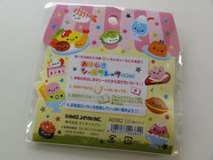 Cute Kawaii Kamio Smile Sweets Food Button Stickers Sack - Vintage