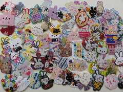 Cute Kawaii Rabbit Bunnies Flake Stickers - 70 pcs