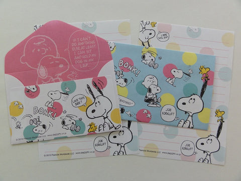 Cute Kawaii Kamio Peanuts Snoopy Mini Letter Sets - A