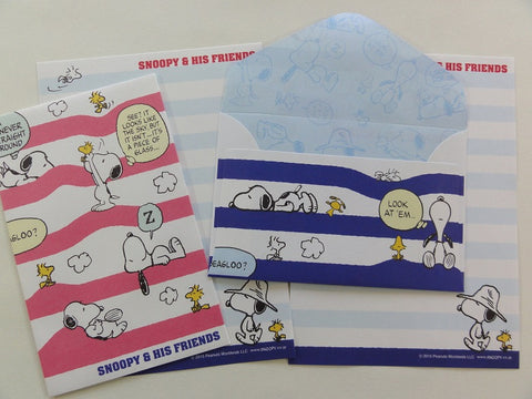 Cute Kawaii Kamio Peanuts Snoopy Mini Letter Sets - B