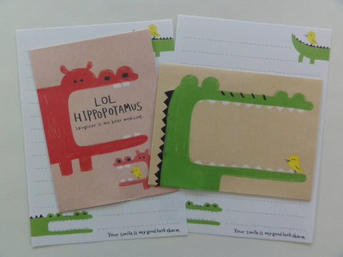 Cute Kawaii Mindwave LOL Crocodile Hippo Mini Letter Sets