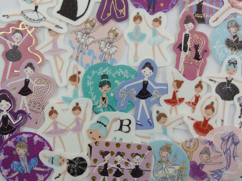 Ballerina Ballet Dance Flake Stickers - 32 pcs