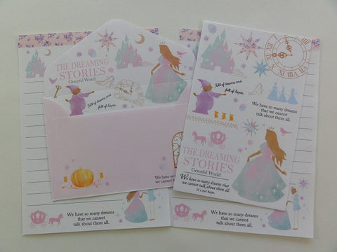 Cute Kawaii Crux Princess The Dreaming Stories Cinderella Mini Letter Sets