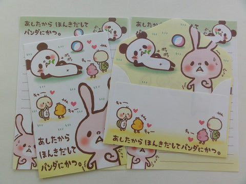 Cute Kawaii Crux Panda and Rabbit Mini Letter Sets