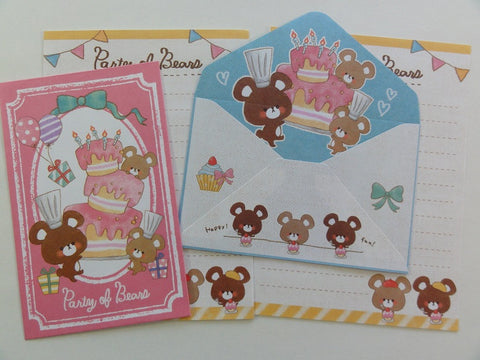 Cute Kawaii Crux Party of Bears Mini Letter Sets