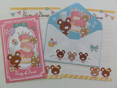 z Cute Kawaii Crux Party of Bears Mini Letter Sets