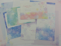 Crux Crystal Clear Snow Letter Sets - Stationery Writing Paper Envelope