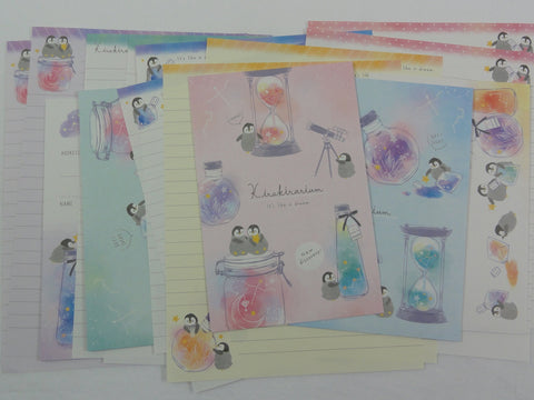 Crux Kirakirarium Penguin Star Watch Letter Sets - Stationery Writing Paper Envelope