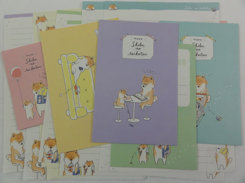 Crux Shiba Dog Daily Life Letter Sets - Stationery Writing Paper Envelope
