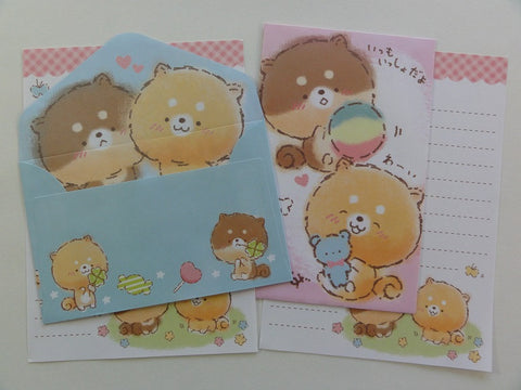 Cute Kawaii Crux Dog Puppies Mini Letter Sets