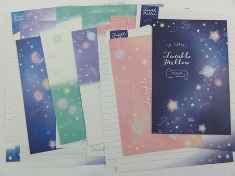 Crux Colorful Twinkle Mellow Star Night Letter Sets - Stationery Writing Paper Envelope