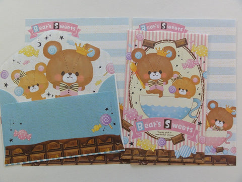Cute Kawaii Crux Bear's Sweets Mini Letter Sets