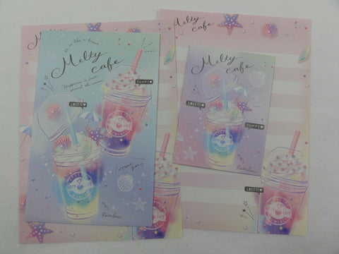 Cute Kawaii Crux Melty Cafe Drink Mini Letter Sets - Small Writing Note Envelope Set Stationery