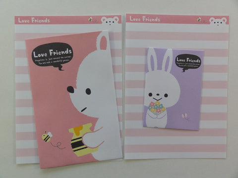 Cute Kawaii Crux Love Friends Rabbit Mini Letter Sets
