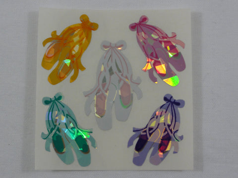 Sandylion Ballet Shoes Glitter Sticker Sheet / Module - Vintage & Collectible