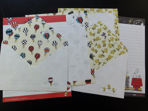 Peanuts Snoopy Letter Sets - H - Stationery Writing Paper Envelope
