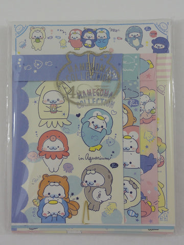 Cute Kawaii San-X Mamegoma Seal Letter Set Pack - 2018 - Writing Paper Envelope Stationery