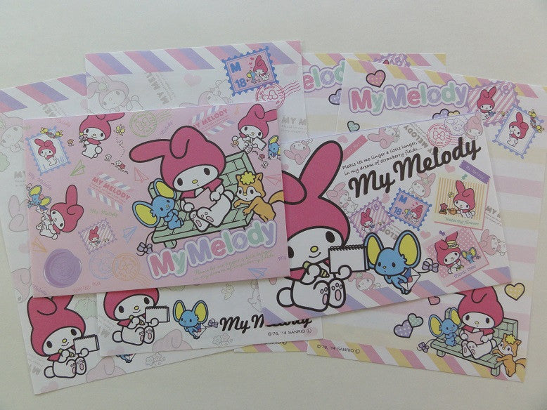 Cute Kawaii My Melody Reading with Friends Mini Letter Sets