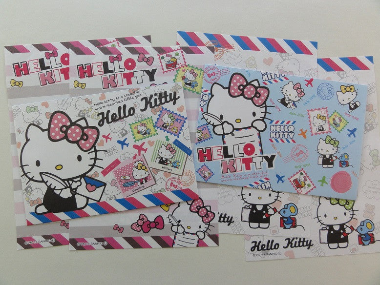 Cute Kawaii Hello Kitty Writing Letter Airmail Mini Letter Sets
