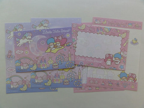 Cute Kawaii Little Twin Stars Mini Letter Sets - A