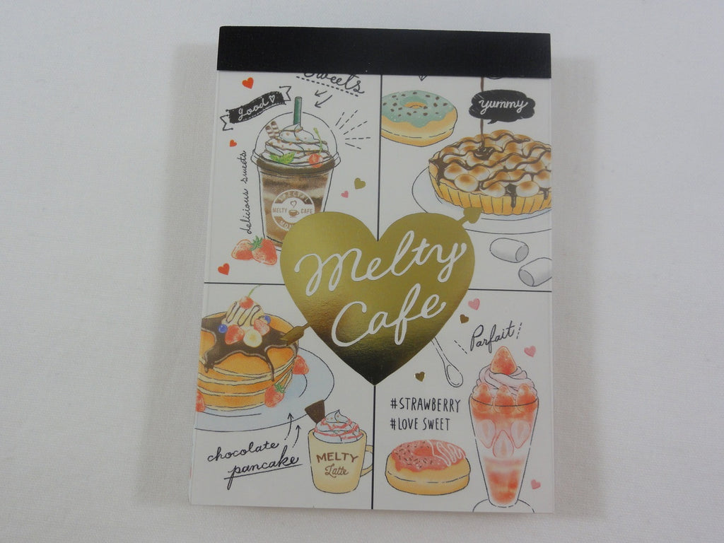 Cute Kawaii Crux Melty Cafe Coffee Drink Mini Notepad / Memo Pad - F - Stationery Designer Paper Collection