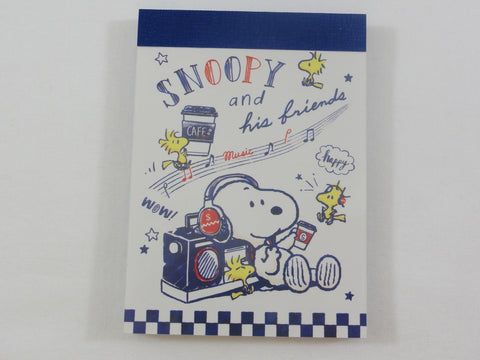 Cute Kawaii Snoopy Music Mini Notepad / Memo Pad - Stationery Designer Writing Paper Collection