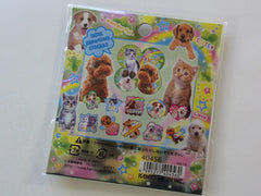 Cute Kawaii Kamio Puppy and Kitty Photo Stickers Flake Sack