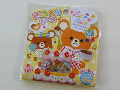 Cute Kawaii Mind Wave Lucky Bear Chef Sweet Bakers Stickers Flake Sack - Vintage