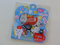 Cute Kawaii Mind Wave Tooth Smile Dentist Flake Stickers Sack