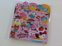 Cute Kawaii Pool Cool Happiness Sweets Stickers Flake Sack - Vintage