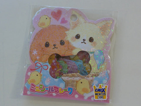 Cute Kawaii Crux Dog Puppy Stickers Flake Sack