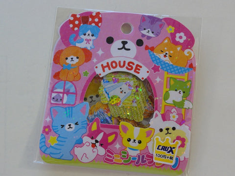 Cute Kawaii Crux Pet House Cat Dog Stickers Flake Sack