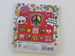 Cute Kawaii Kamio Love Peace Skull Gothic Retro Stickers Flake Sack - Vintage