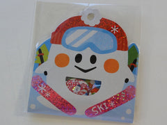 Cute Kawaii Q-Lia Ski Ghost Winter Snow Stickers Flake Sack - Vintage