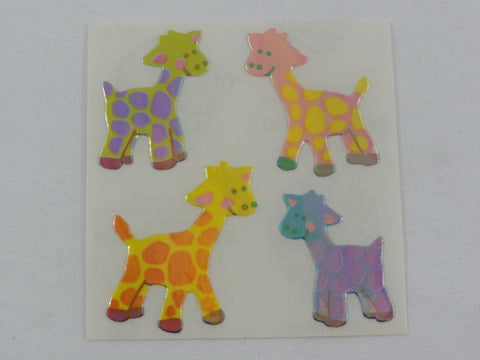 Sandylion Baby Giraffe Pearly / Opalescent Sticker Sheet / Module - Vintage & Collectible