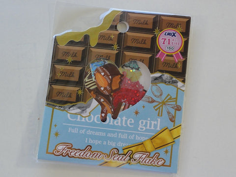 Cute Kawaii Crux Chocolate Girl Stickers Sack - Vintage