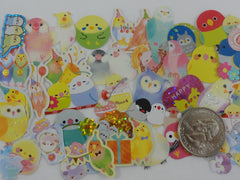 Cute Kawaii Birds Flake Stickers - 40 pcs - for Journal Planner Craft Scrapbook