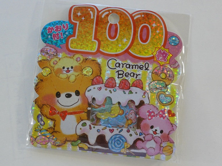 Cute Kawaii Kamio Caramel Bear Stickers Sack - Vintage