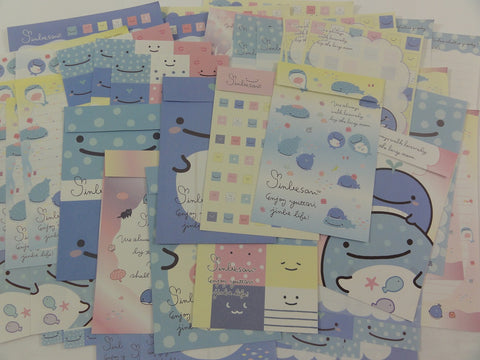 San-X Jinbesan Whale Stationery Set