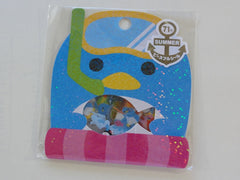 Cute Kawaii Mind Wave Summer Penguin Stickers Sack - Vintage