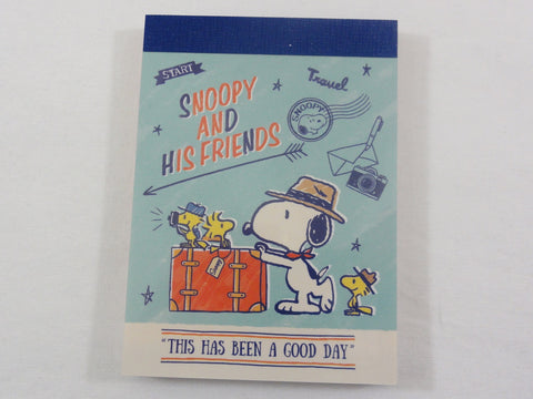 Cute Kawaii Snoopy Travel Mini Notepad / Memo Pad - Stationery Designer Writing Paper Collection