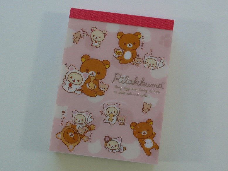 Kawaii Cute San-X Rilakkuma Cat Mini Notepad / Memo Pad - F