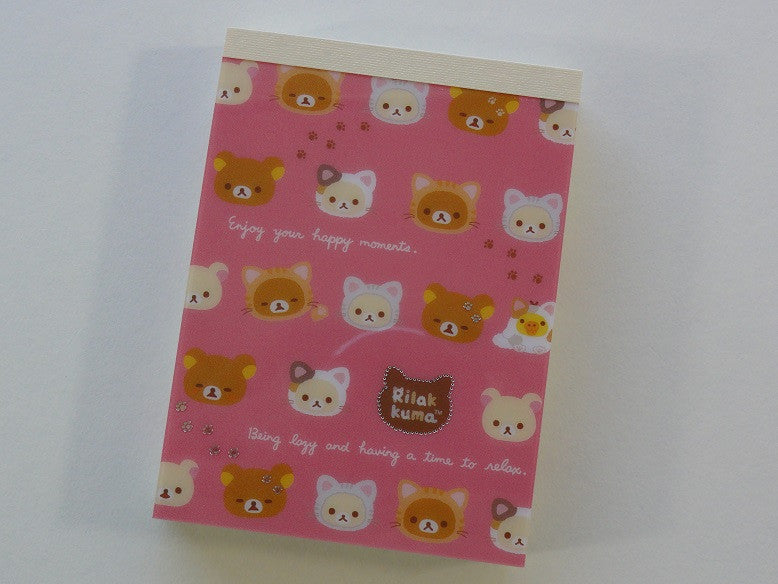 Kawaii Cute San-X Rilakkuma Cat Mini Notepad / Memo Pad - H
