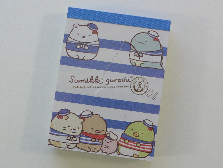 Kawaii Cute San-X Sumikko Gurashi Sailor Navy Marine Style Mini Notepad / Memo Pad - C