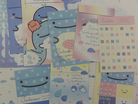 Cute Kawaii San-X Jinbesan Whale Letter Writing Paper + Envelope Theme Stationery Set