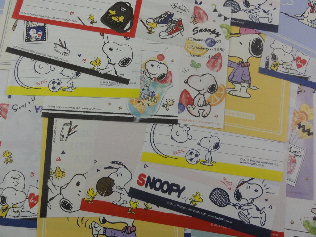 Peanuts Snoopy 32 pc Memo Note Paper Set - Stationery