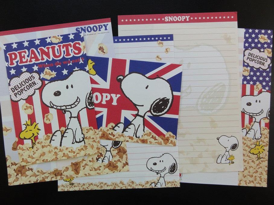 Peanuts Snoopy Letter Sets Stationery Paper - G