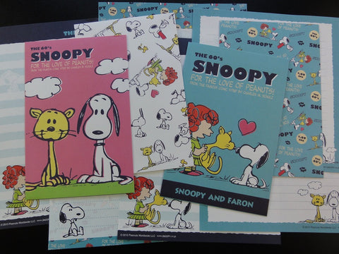 z Peanuts Snoopy Letter Sets Stationery Paper - M